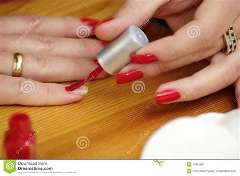 color nail painting stock image image 17991961