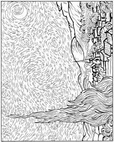 gogh coloring book free coloring pages of vincent gogh