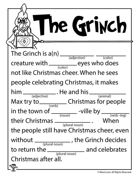 printable christmas mad libs the grinch mad lib woo jr kids activities