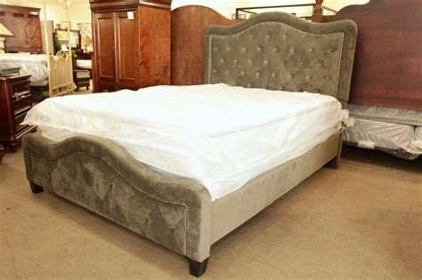 hillsdale tufted grey velvet headboard full queen hillsdale grey tufted queen headboard footboard with