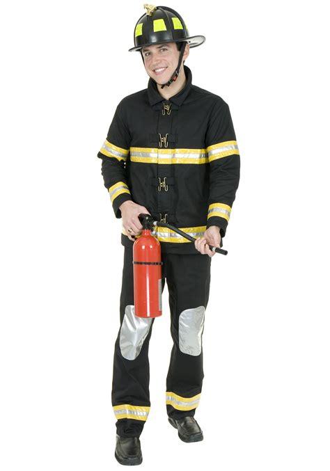firefighter costume black fireman costume