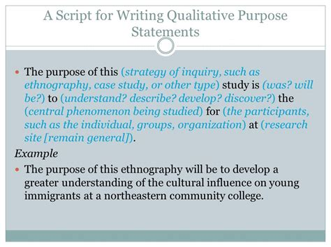 how to write purpose of study in research paper the purpose statement and research questions ppt