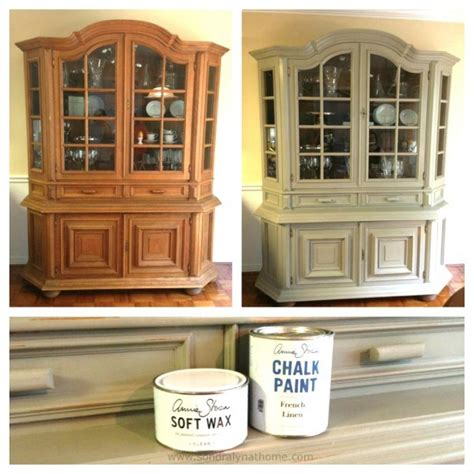 china cabinet chalk paint makeover lyn at home