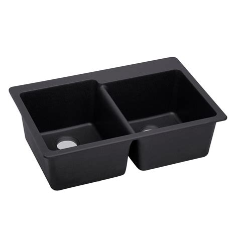 black undermount kitchen sink elkay elkay by schock undermount quartz composite 33 in