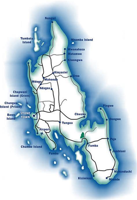 printable map of zanzibar zanzibar island holiday with hotel and resort accommodation