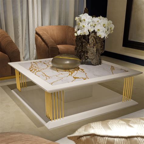 marble gold coffee table modern marble gold square coffee table