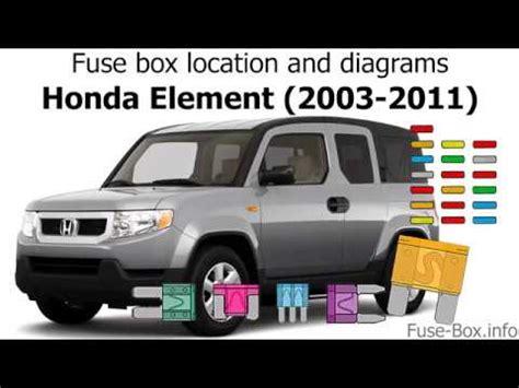 fuse box location  diagrams honda element   youtube