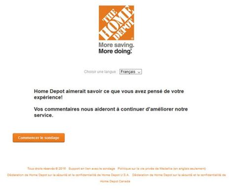 Home Depot Survey Sweepstakes - homedepot com survey loterie satisfaction home depot sweepstakes pit