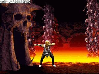 animaciones de mortal kombat baraka se lanza  la lava