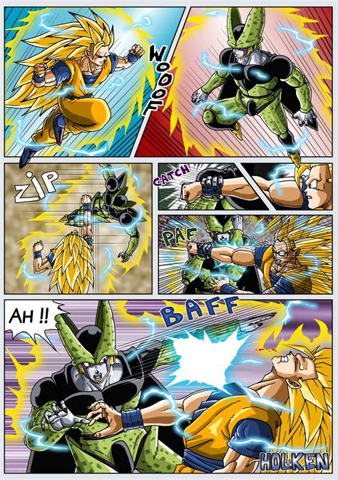 imagenes de goku vs cell goku ss3 vs cell perfecto 191 qui 233 n ganar 237 a foros per 250