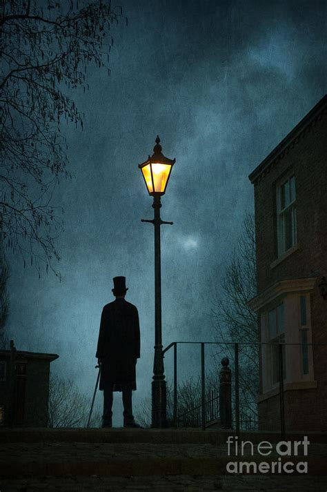 Victorian Shower Bath mysterious victorian man in silhouette at night photograph