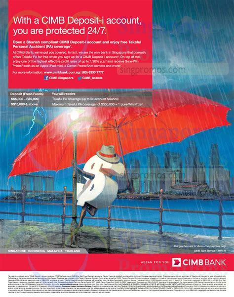 Cimb Bank Letterhead cimb deposit i account free takaful personal pa