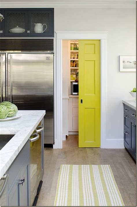 colorful doors colored pocket door to pantry home pinterest pocket