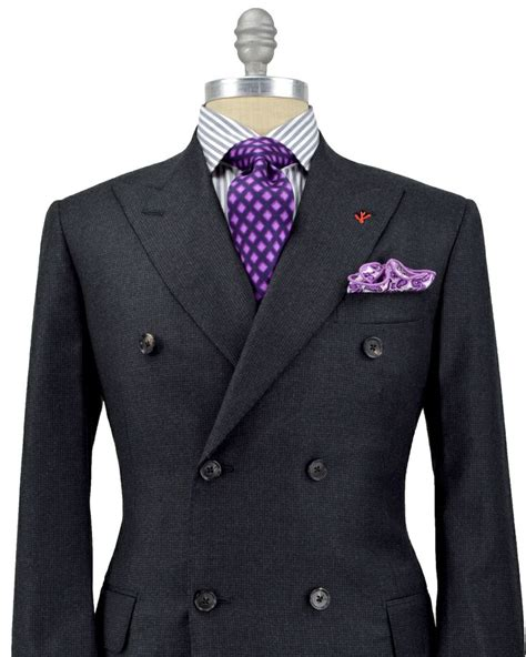 Jaket Casual Navy Realmadrid isaia charcoal mini houndstooth breasted suit apparel s of real madrid