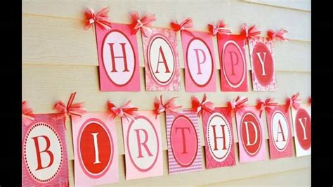 simple birthday decorations at home easy simple birthday party decoration youtube
