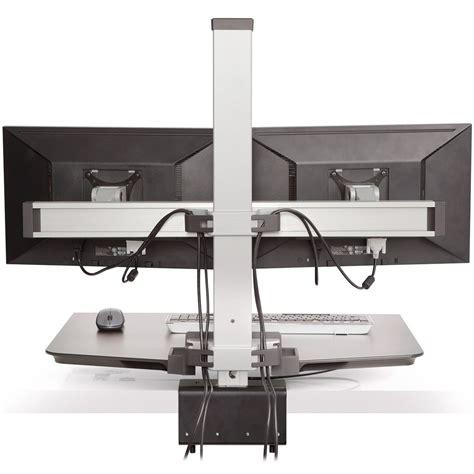 sit stand desk dual monitor innovative winston dual monitor sit stand workstation