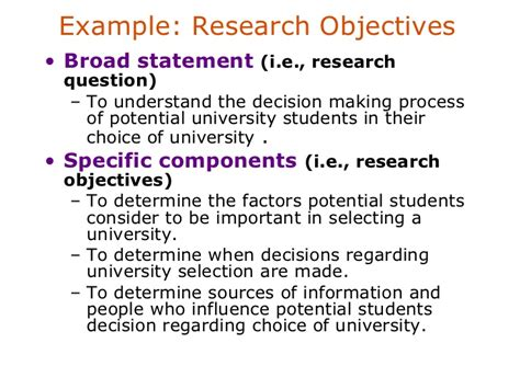 statement of objectives in research problem definition identification in research
