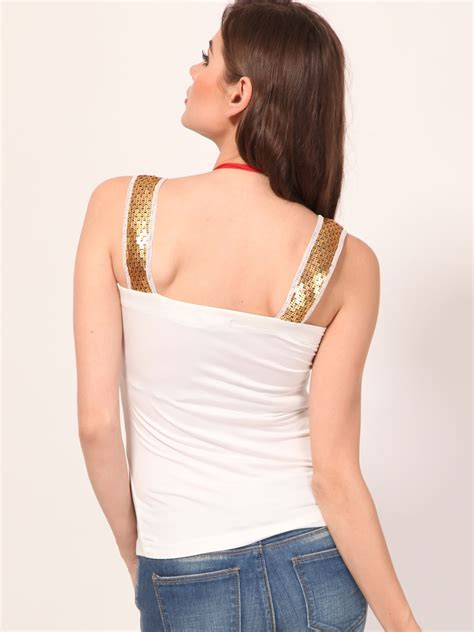 New Tiramisu Top Tunik Blouse T1310 3 buy strappy top with sequined shoulder for s white strappy tops in india