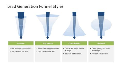 lead funnel template 4 lead generation funnel styles template for powerpoint