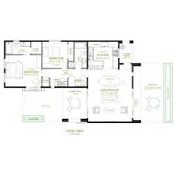 Bedroom Floor Plans Modern 2 Bedroom House Plan 61custom Contemporary
