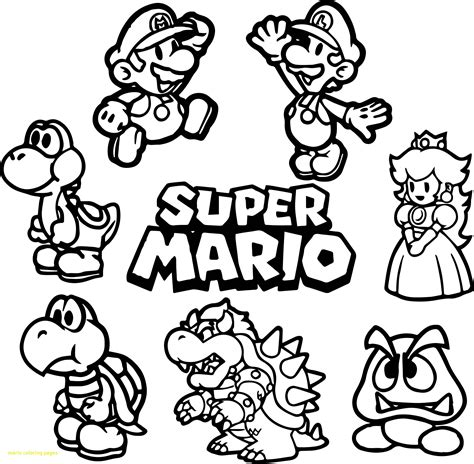 H Brothers Coloring Page by Mario Bros Coloring Pages Beingthere Me
