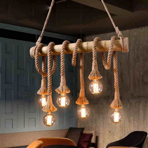 Creative Hanging Lights Aliexpress Buy Vintage Rope Bamboo Pendant Lights Loft Creative Personality Industrial