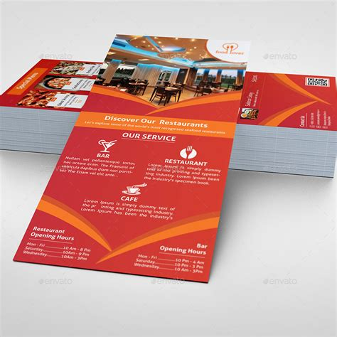 Uprinting Rack Card Template by Restaurant Rack Card Template By Morsed55 Graphicriver