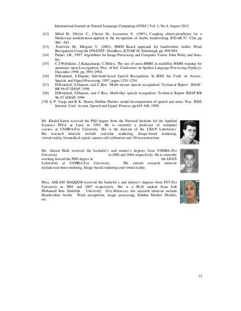 pattern recognition letters journal ranking a multi stream hmm approach to offline handwritten arabic