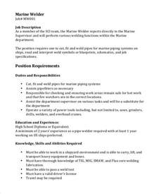 Description Welder by Welder Description 10 Free Word Pdf Documents Free Premium Templates
