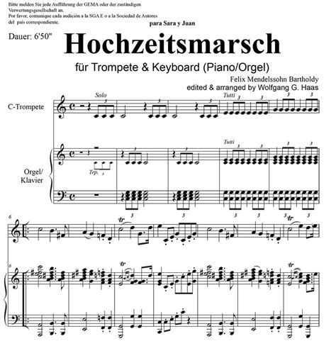 mendelssohn hochzeitsmarsch wedding march mendelssohn bartholdy felix 1809 1847 wedding march for