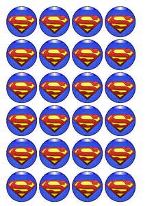superman cupcake topper pack of 30