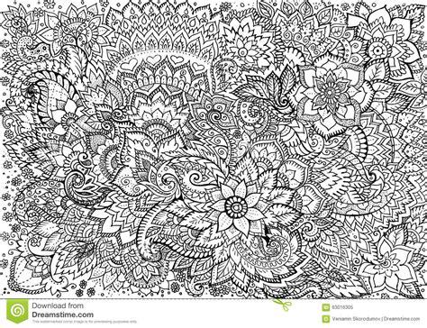 pattern background sketch drawing background floral patterns stock illustration