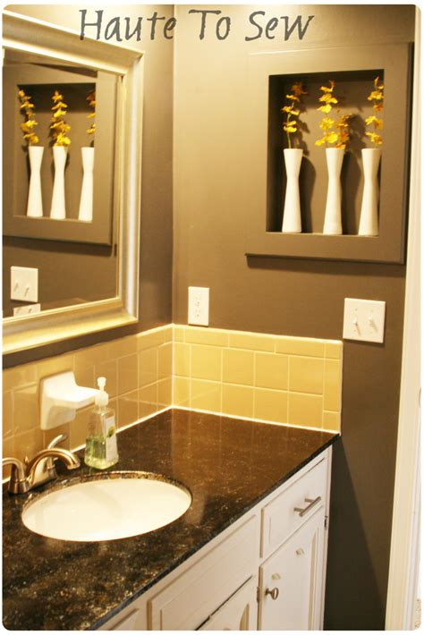 gray bathroom color schemes remodelaholic bathroom makeover yellow gray color scheme