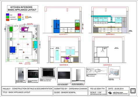 interior electrical layout kitchen interior detail on behance
