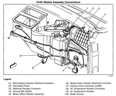 1994 chevy silverado blend door actuator heat actuator location on 2004 tahoe get free image