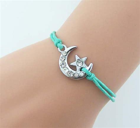 Rhinestone Moon Bracelet shiny moon bracelet rhinestone moon with tiny