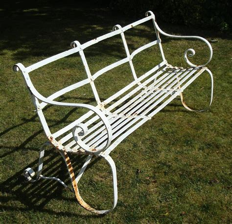 wrought iron garden bench seat regency wrought iron garden seat bench for sale at 1stdibs