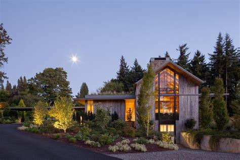 country garden house modern home  portland oregon