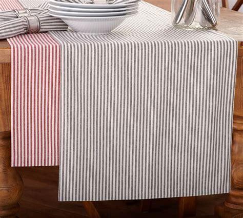 stripe table runner wheaton stripe table runner pottery barn
