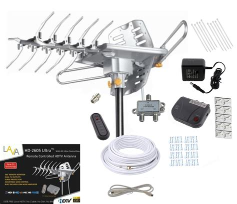 lava hd2605 hdtv digital rotor lified outdoor hd tv antenna cable install kit ebay