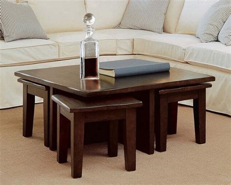 Coffee Table With Stools Underneath Coffee Table With Stools Choice For Modern Living Room Coffee Table Review