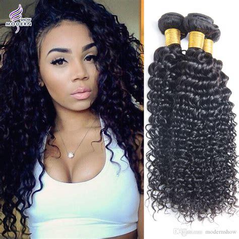 Virgin Brazilian Remy Hair Weaves Deep Wave Curly Hair
