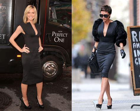 Heidi Montag Wears The Same Larok Dress 3 Days Apart by Beckham And Heidi Klum Wear The Same