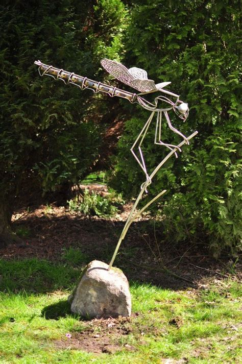 sculpture stainless steel dragonfly large outsize