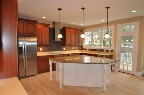 cherry kitchen island cherry kitchen white island traditional kitchen