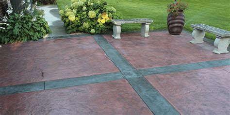 colored concrete patio custom sted colored concrete patios paver patios in