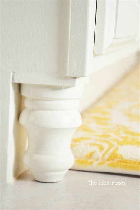 decorative wood cabinet feet updating builder grade bathroom cabinets the idea room