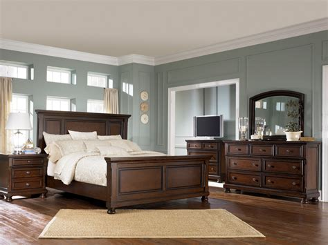 porter king sleigh bed porter king panel bed item series b697 ogle furniture