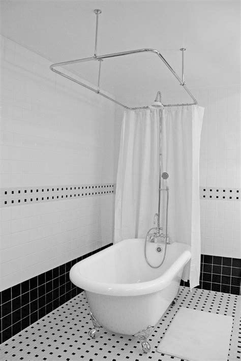 shower rod for clawfoot bathtub rod for a clawfoot tub shower enclosure useful reviews