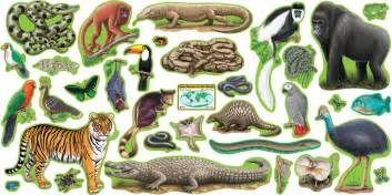 Alphabet And Number Wall Stickers bulletin board set rain forest animals 2 press sheets t 8150